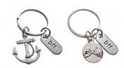 BFF friendship keychain, Anchor keychain, Pull hook Finger, Best Friends Keychai, Holiday Gift ,Gift For Friends