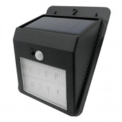 TrendBox - 1 unit Motion Activated PIR CDS Night Sensor Wireless Lamp Light Bright Outdoor 8 LEDs Solar Energy Powered Sensitive Garden Patio Path Wall Mount Security Metal Waterproof Heatproof