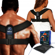 TOMAA SPORTS Posture Corrector Back Brace - Physical Trainer Therapy for Women and Men Treating Pain in the Neck, Shoulders and Spine