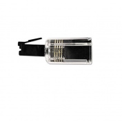 Rotating 360 Telephone Cord Detangler, Clear/Black