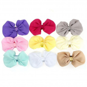 9xToruiwa Headband Cute Bowknot Baby Hairband Adjustable Elastic Ribbon Headdress Headwear Hairdress Multicolor