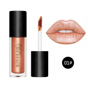 Cysincos Women Cosmetics Shinny Lip Gloss & Metallic Lip Brillant Moisturising Long-Lasting Lustre Lipstick