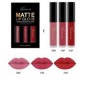 Cysincos Women Cosmetics Matte Lip Gloss & Metallic Lip Brillant Moisturising Long-Lasting Lustre Lipstick Set
