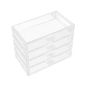 Frcolor Cosmetic Makeup Organiser Portable 4 Layer Jewellery Display Box for Women Girls