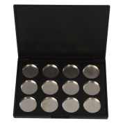 Empty Magnetic Eyeshadow Palette, VONISA Make Up Container Pallet for Empty Magnetic Cosmetics Makeup Eyeshadow Eye Shadow Aluminium Palette Pans Case,Black
