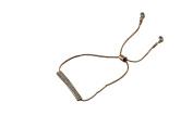 PetHot Bangle for Girls Sparking Rhinestone Adjustable Chain Bracelet Golden