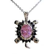 Samira Tortoise Pendant with Pink Sapphire