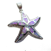 Sara – Exclusive Summer Jewellery 925 Sterling Silver Opal Starfish Pendant Necklace