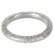 Dower & Hall, Spiral - Solid Sterling Silver Carved Band