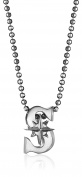 "Alex Woo ""Little MLB"" Seattle Mariners Silver Pendant Necklace, 41cm"