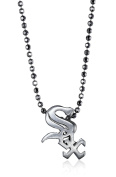 "Alex Woo ""Little MLB"" Chicago White Sox Silver Pendant Necklace, 41cm"