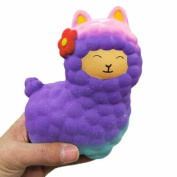 Squeeze Toys, Jumbo Sheep Cute Alpaca Squishy Slow Rising Cream Scented Stress Reliever Toy Decompression Soft Doll Toys
