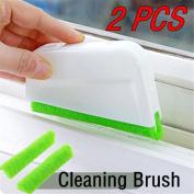 IGEMY 2Pcs Window Frame Door Groove Cleaning Brush Kitchen Decontamination Brush