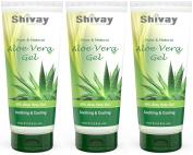 Aloe Vera Gel 99% Pure and Natural Aloe Vera Gel 100ml 3 Pack by Shivay Herbals