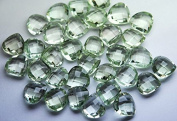 4 Match Pair, Super Rare AAA Green Amethyst Faceted Heart Calibrated Size 12mm