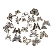 Baosity 260g Assorted Hollow Butterfly DIY Charms Pendant Bead Jewellery Finding Craft