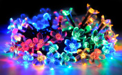 String Party Lights, Bangcool 50 Solar Rope String Lights Waterproof Decorative Blossom Fairy Light for Wedding, Outdoor, Patio, Lawn, Garden, Christmas, Xmas Tree, Halloween Decoration