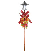 Solar Autumn Leaves Metal Lamp Post for Garden, Yard, or Landscape Décor