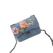LILICAT Women Ladies Messenger Bags Applique Floral Elegant Ladies Vintage Cute Ling Grid Crossbody Bags Shoulder Bags Girls Fashion Casual Shoulder Purse Coin Purse