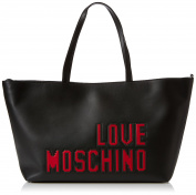 Love Moschino Borsa Soft Nappa Pu Nero, Women's Shoulder Bag, Black, 11x28x38 cm