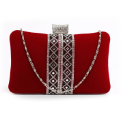 Stunning Luxury Red Sparkly Crystal Evening Clutch Purse | FREE UK DELIVERY | SAVE 50%