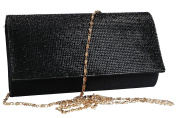 Purse woman ROMEO GIGLI pochette black for ceremonies with strass VN1329