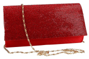 Purse woman ROMEO GIGLI pochette red for ceremonies with strass VN1331