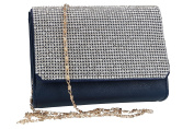 Purse woman ROMEO GIGLI pochette blue for ceremonies with strass VN1342