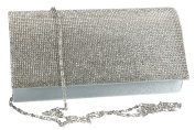 Purse woman ROMEO GIGLI pochette silver for ceremonies with strass VN1330