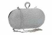 Purse woman MONICA NARDUCCI pochette silver for ceremonies with strass VN1356