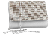 Purse woman ROMEO GIGLI pochette silver for ceremonies with strass VN1341
