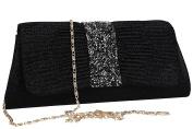 Purse woman ROMEO GIGLI pochette black for ceremonies VN1348