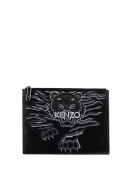 Kenzo Women's F852SA607L0699 Black Leather Clutch