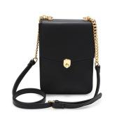 LeahWard Women's Flap Twist Lock Cross Body Bag Quality Faux Leather Shoulder Bags Handbags Party 586