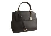 DKNY Black Leather Handbag with Removable Cross Body/Shoulder Strap