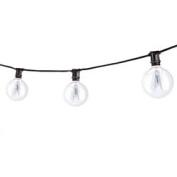 Replacement for STRING15/E12/BLACK-G16KT STRING15/E12/BLACK-G16KT OUTDOOR MINI STRING LIGHT W/INCANDESCENT G16 GLOBE BULBS, 7.6m, 15 LIGHTS SOCKETS, BLACK replacement light bulb lamp