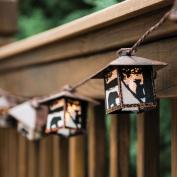 Black Bear Rustic Lantern String Lights - Cabin Outdoor Decor