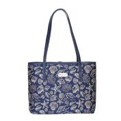Sea Shell Shoulder Tote Bag by Signare | Women's Fashion Unique Fabric Beach College Shoulder Tote | 33x27x15 cm |