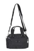 BOBO Women's Nylon Top-Handle Handbag (Black) [6678]