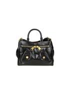 Moschino Women's A74638005555 Black Leather Handbag