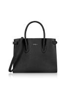 Furla Women's 942235 Black Leather Handbag