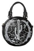 Banned Apparel Cosmic Cactus Rockabilly Black Messenger Shoulder Handbag