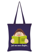 Just One More Chapter Tote Bag Purple 38x42cm