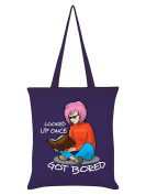 Looked Up Once Got Bored Book Lovers Purple Tote Bag 38x42cm