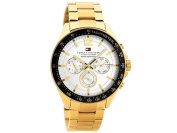 Tommy Hilfiger 51791121 Luke Gold Plated Chronograph Bracelet Watch Quartz Men