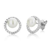 Miore Women 925 Sterling Silver Cubic Zirconia Stud Earrings MSAE187E