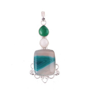 Neerupam Collection Natural Agate Gemstone German Silver Fashion Jewellery For Women
