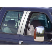 99-07 Ford Super Duty 4-Door Stainless Steel Pillar Posts without ABS Accents