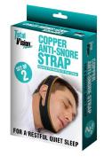 Simple Living Company Copper Anti-Snore Strap, Neoprene Mesh, Brown, 2.5 x 7.6 x 63.5 cm