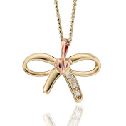 Clogau Women 9ct (375) 2 Colour Gold Diamond Pendant TOLBP